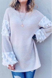And the Why Flower Lace Top - Product Mini Image