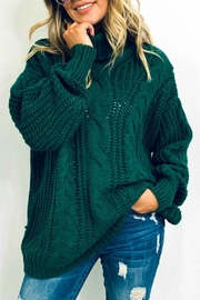 And the Why Jacelyn Turtleneck Sweater - Front cropped