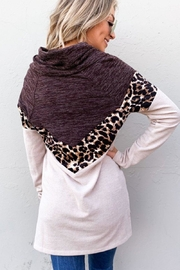 And the Why Leopard Color-Block Top - Back cropped