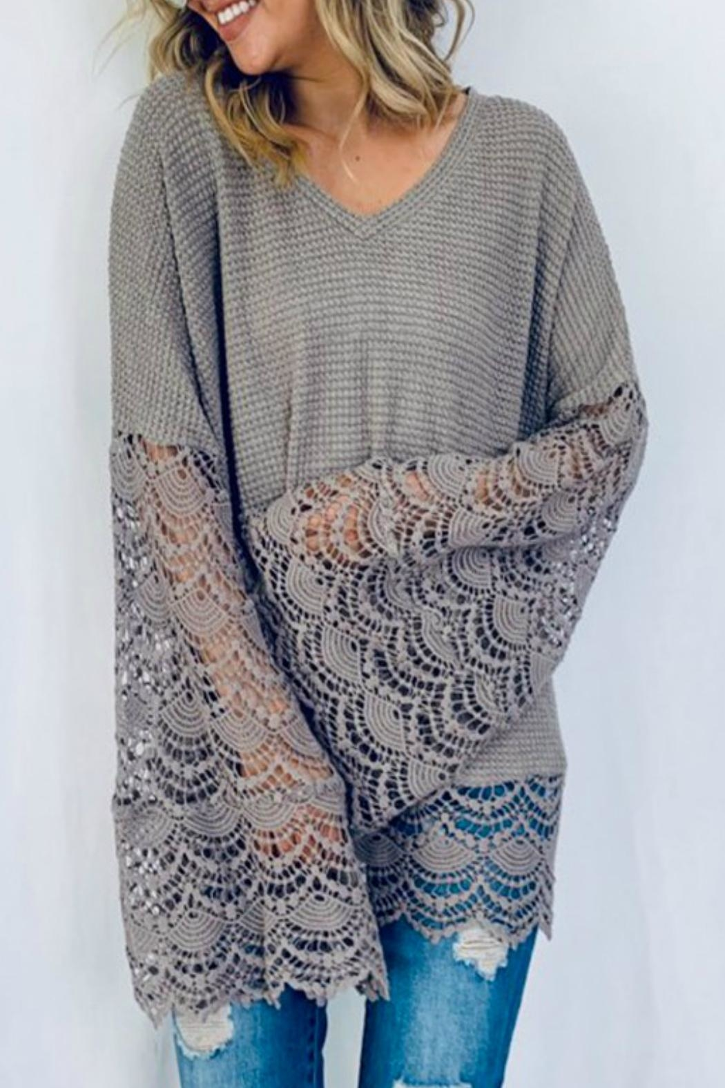 And the Why Liv Lace Tunic - Front Full Image