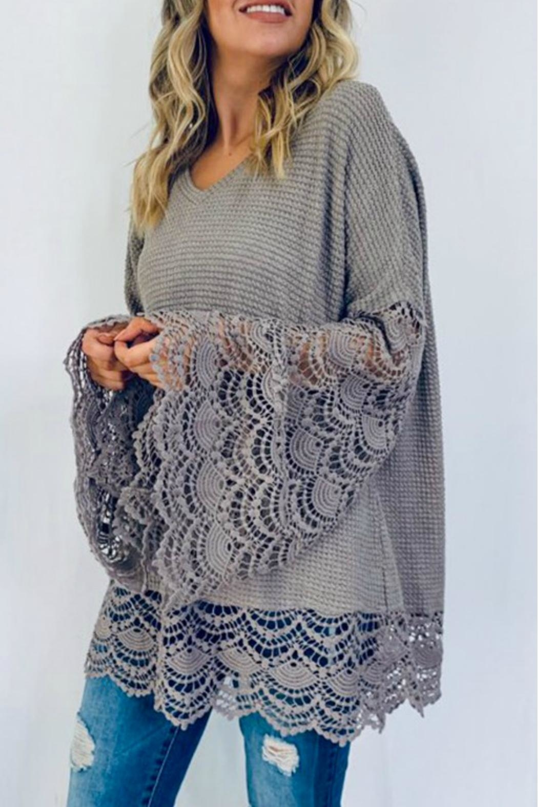 And the Why Liv Lace Tunic - Main Image