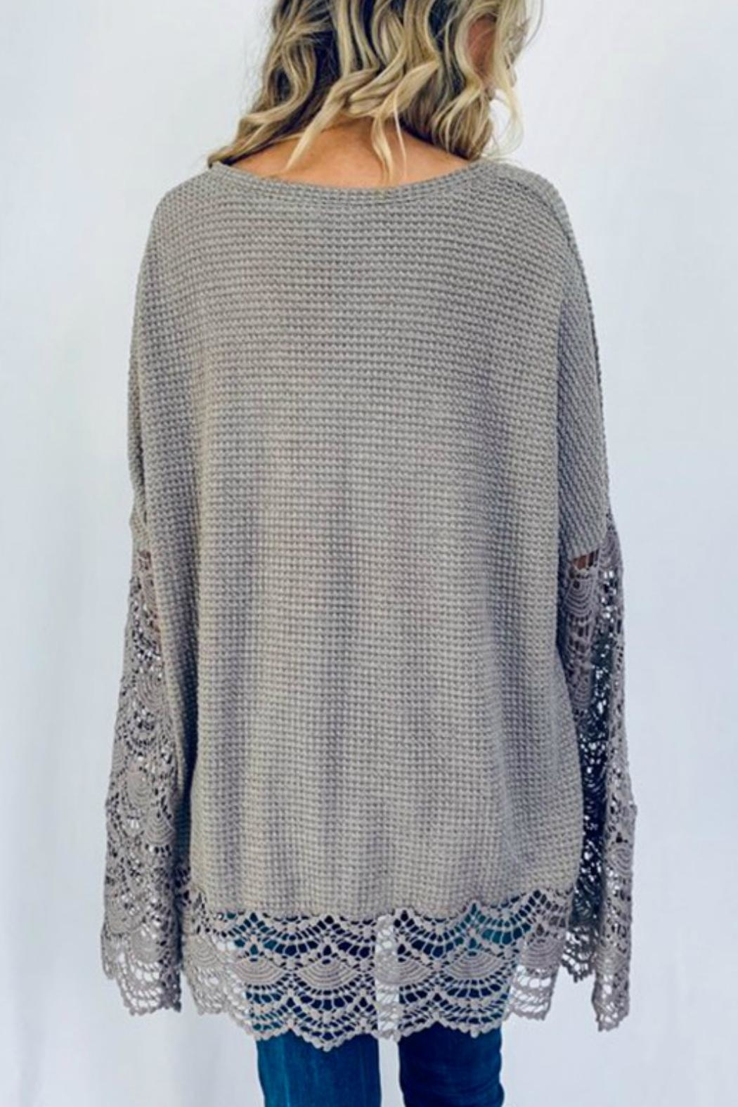 And the Why Liv Lace Tunic - Back Cropped Image