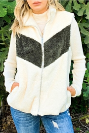 And the Why Sherpa Color-Block Vest - Product Mini Image