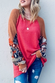 And the Why Snake Color-Block Tunic - Product Mini Image