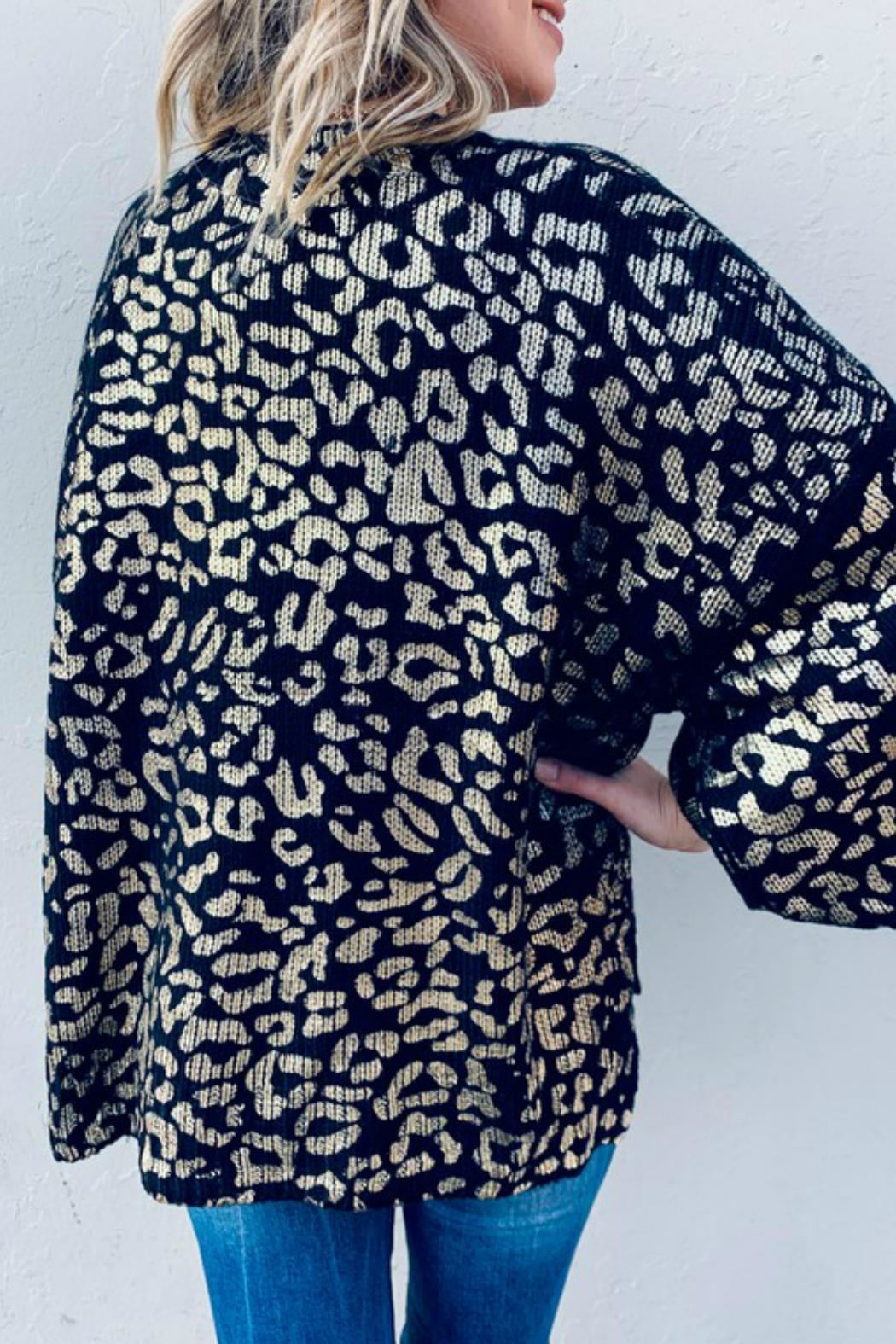 And the Why Valetta Leopard Sweater - Side Cropped Image