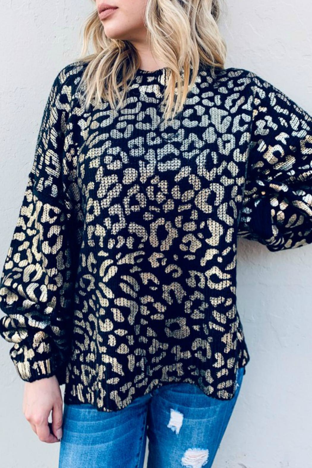 And the Why Valetta Leopard Sweater - Front Full Image
