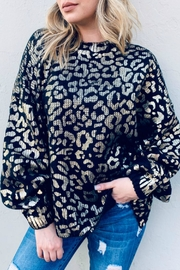 And the Why Valetta Leopard Sweater - Front cropped