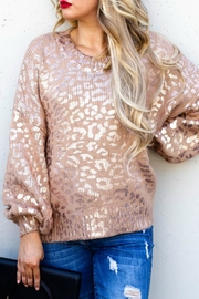 And the Why Valetta Leopard Sweater - Product Mini Image
