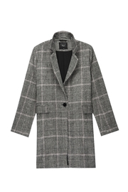 Rails Anders Charcoal/pink Plaid - Front full body