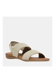 Andre Assous Nigella Sandal in Beige Linen - Product Mini Image