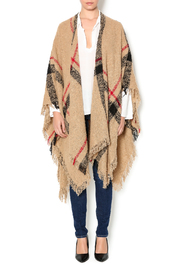 Andrea Bijoux Printed Wrap With Fringe - Product Mini Image