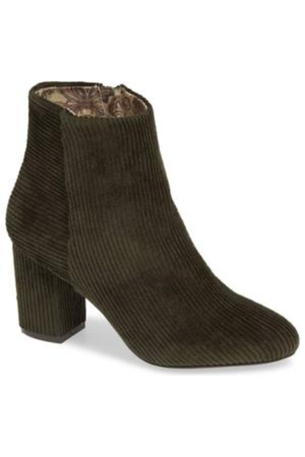Band Of Gypsies Andrea corduroy ankle bootoe - Main Image