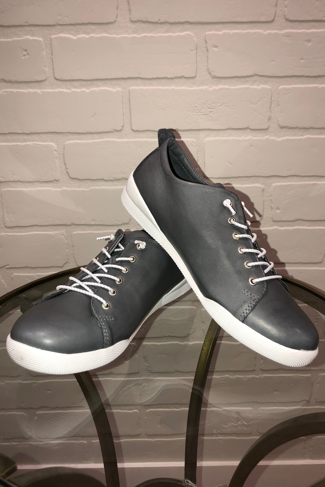 Andrea Conti  Andrea Lace Up Sneaker - Front Cropped Image