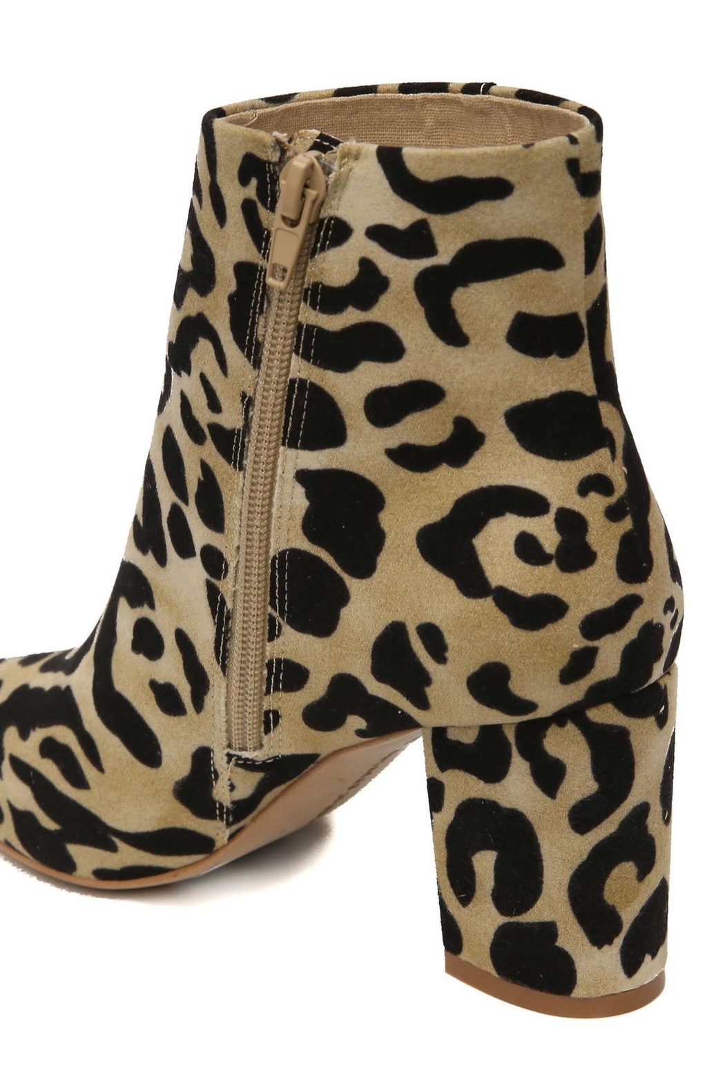 Band Of Gypsies Andrea Leopard Booties - Front Full Image