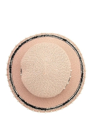 Andrea Bijoux Pearl Accent Brim Fashion Homburg Straw Hat - Side cropped
