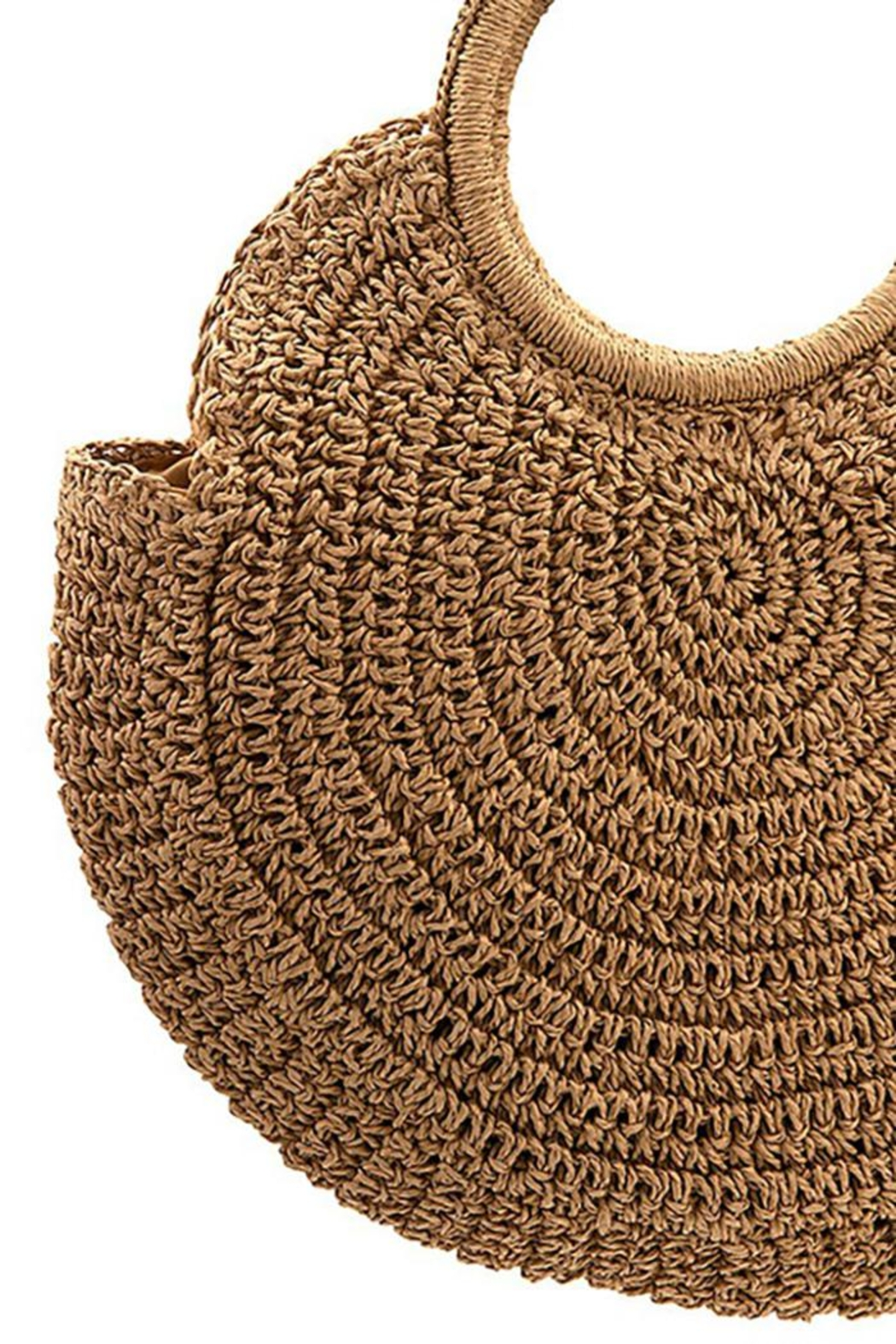 Andrea Bijoux Round Woven Fashion Tote Bag - Back Cropped Image