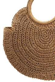 Andrea Bijoux Round Woven Fashion Tote Bag - Back cropped