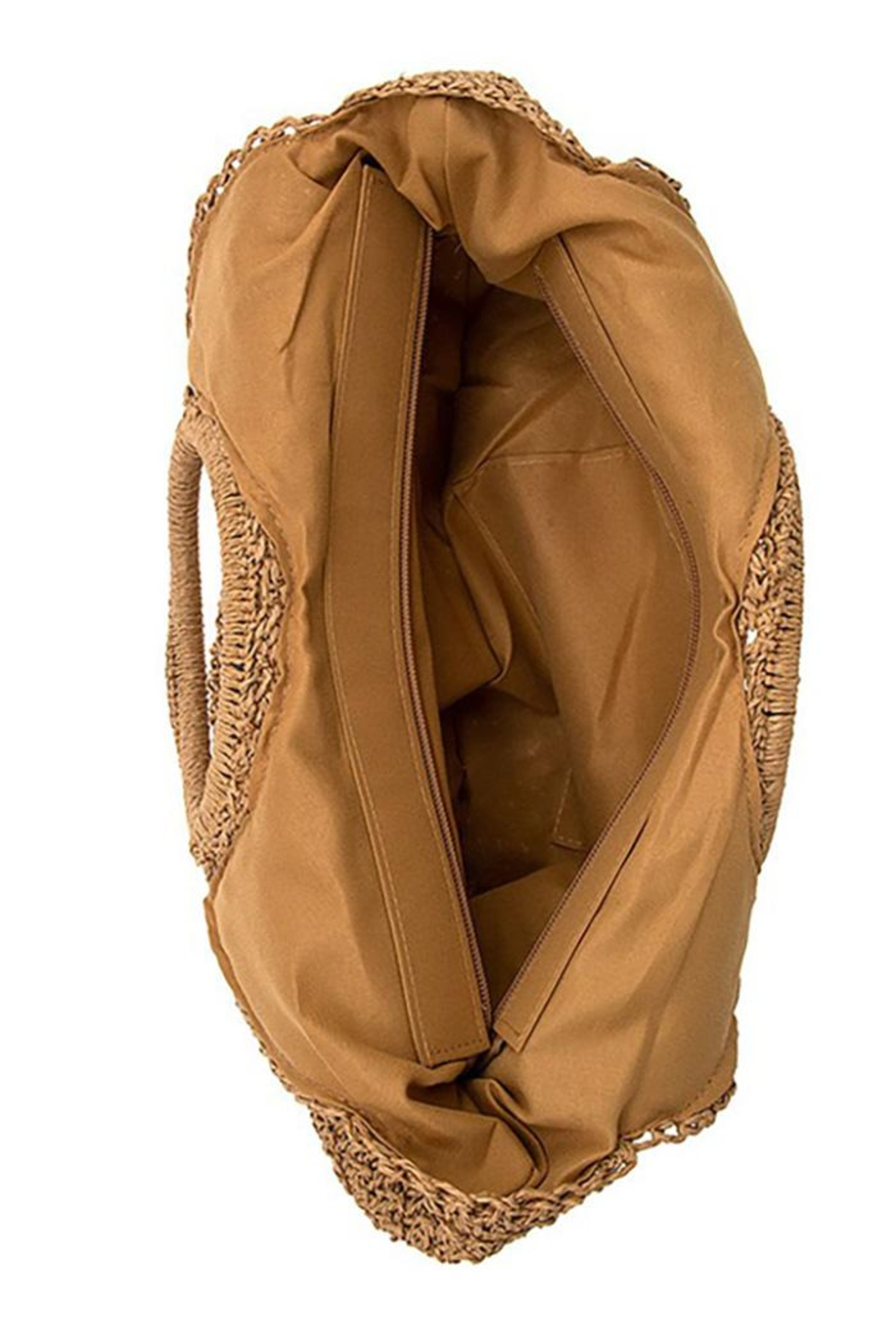 Andrea Bijoux Round Woven Fashion Tote Bag - Side Cropped Image