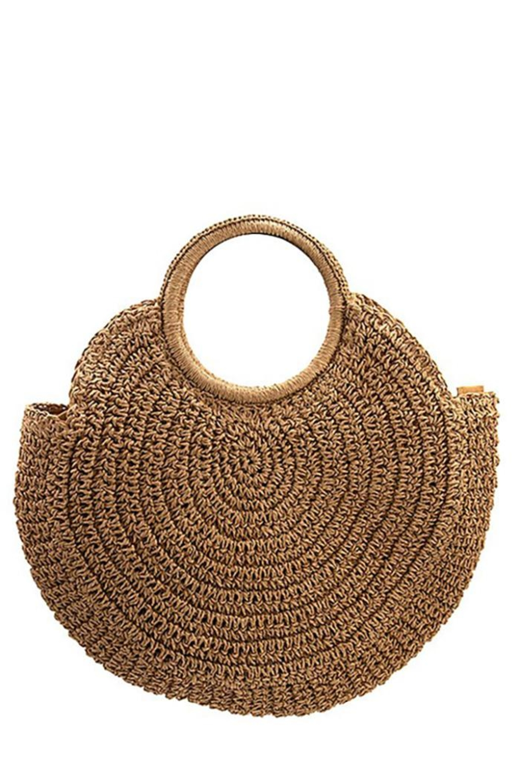 Andrea Bijoux Round Woven Fashion Tote Bag - Front Cropped Image