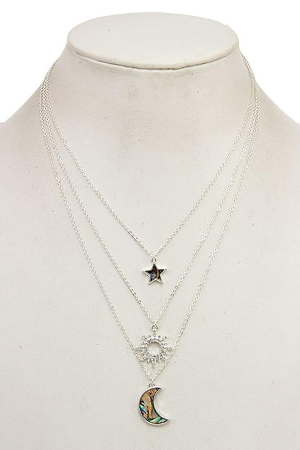 Andrea Bijoux Three In One Pendant Necklace - Front Cropped Image