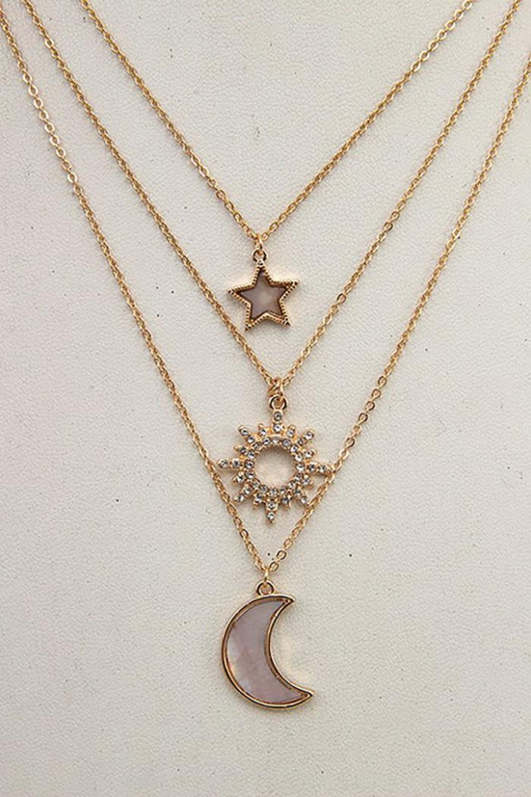 Andrea Bijoux Three In One Pendant Necklace - Front Full Image