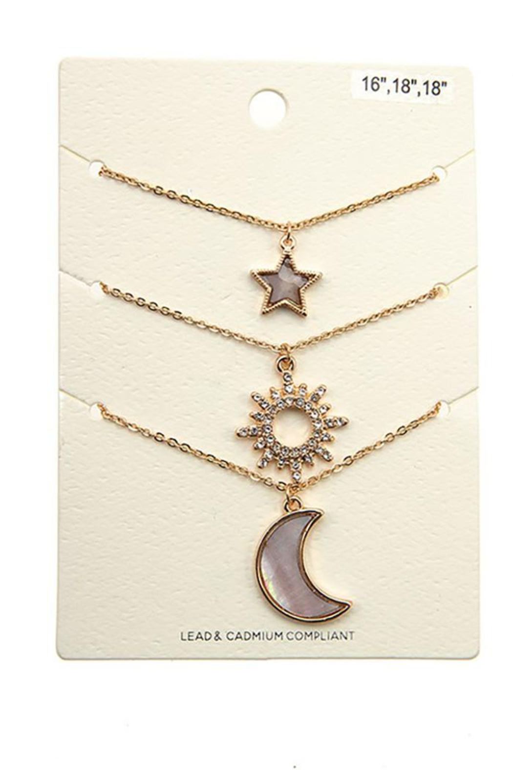 Andrea Bijoux Three In One Pendant Necklace - Side Cropped Image
