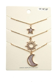 Andrea Bijoux Three In One Pendant Necklace - Side cropped