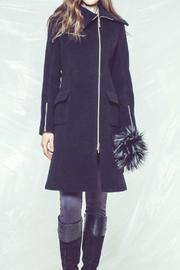 Andrea Martiny Black Zipper Coat - Product Mini Image