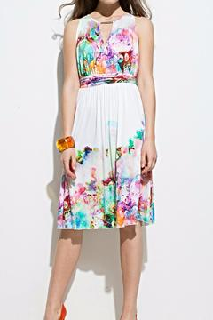 Andrea Martiny Floral Fit & Flare Dress - Product List Image