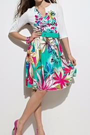 Andrea Martiny Flower Print Dress - Product Mini Image