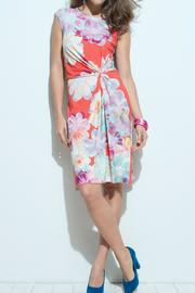 Andrea Martiny Gathered Flower Dress - Front cropped