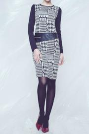 Andrea Martiny Houndstooth Print Dress - Product Mini Image