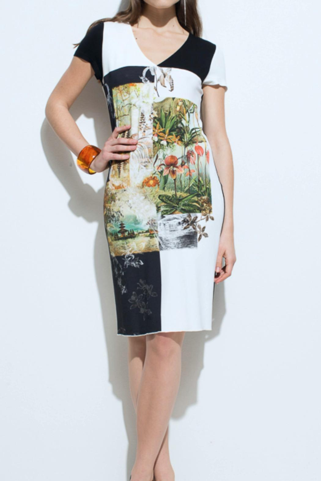 Andrea Martiny Print Shift Dress - Front Cropped Image