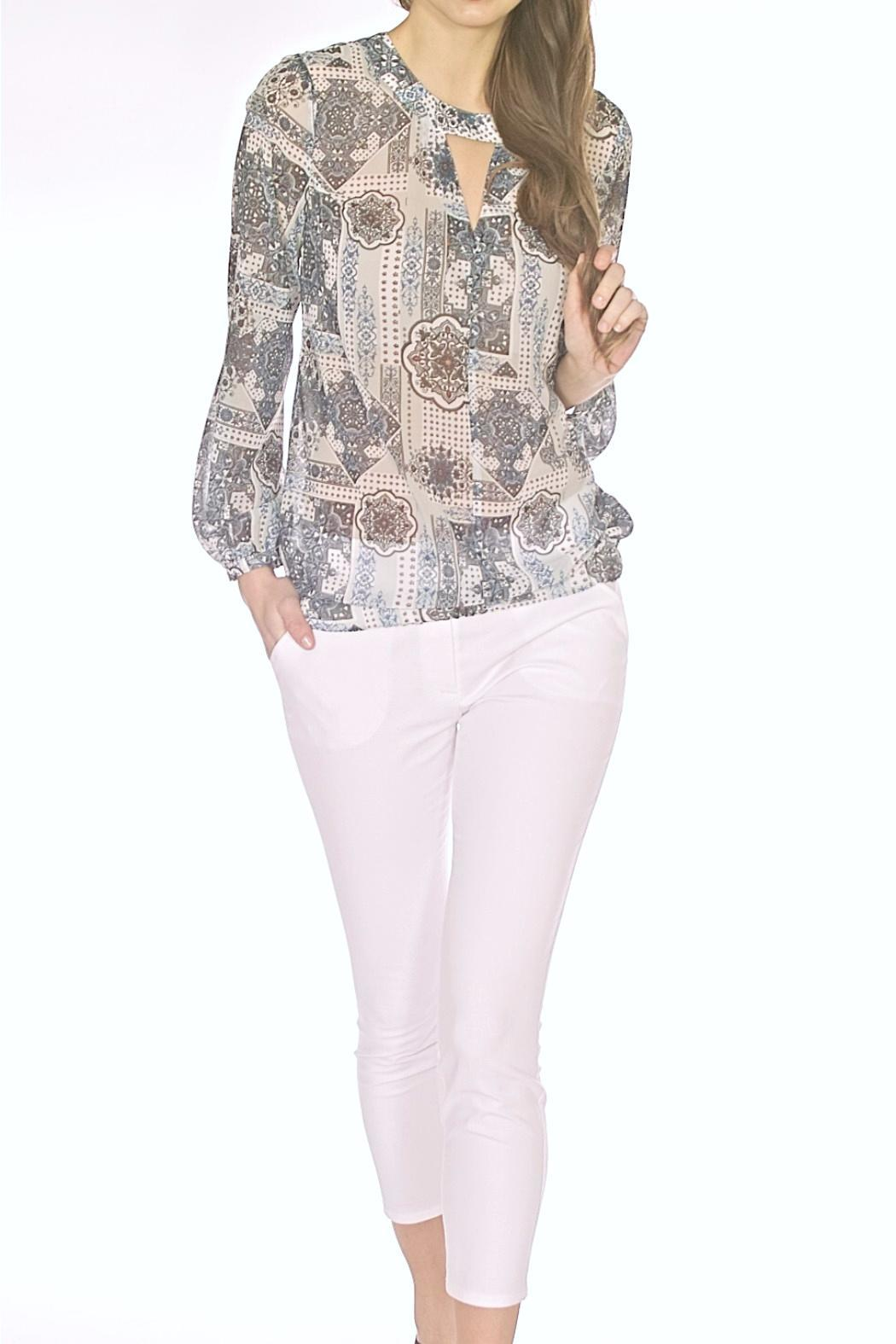 Andrea Martiny Printed Blouse - Main Image