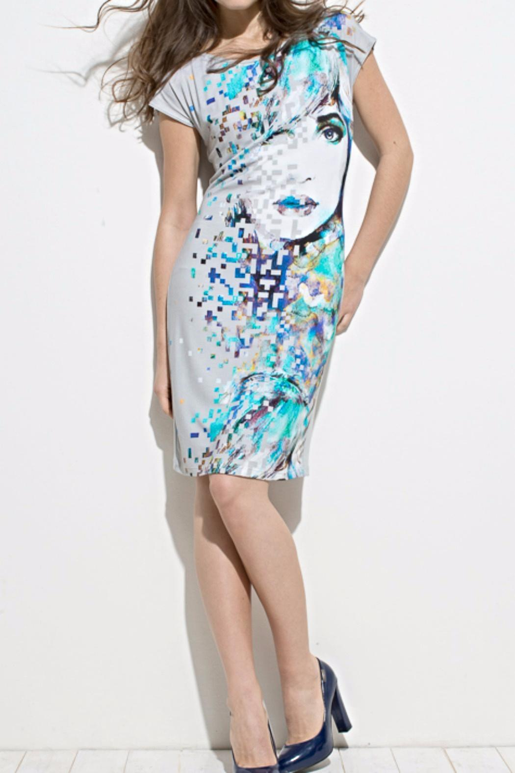 Andrea Martiny Printed Sheath Dress - Main Image