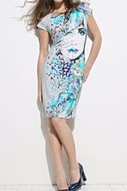 Andrea Martiny Printed Sheath Dress - Front cropped