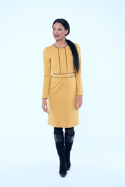 Andrea Martiny Yellow Dress Sz1517 - Front cropped