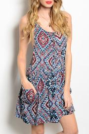Andree Aztec Pockets Dress - Product Mini Image