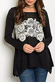 Andree Black Crochet Top - Product Mini Image