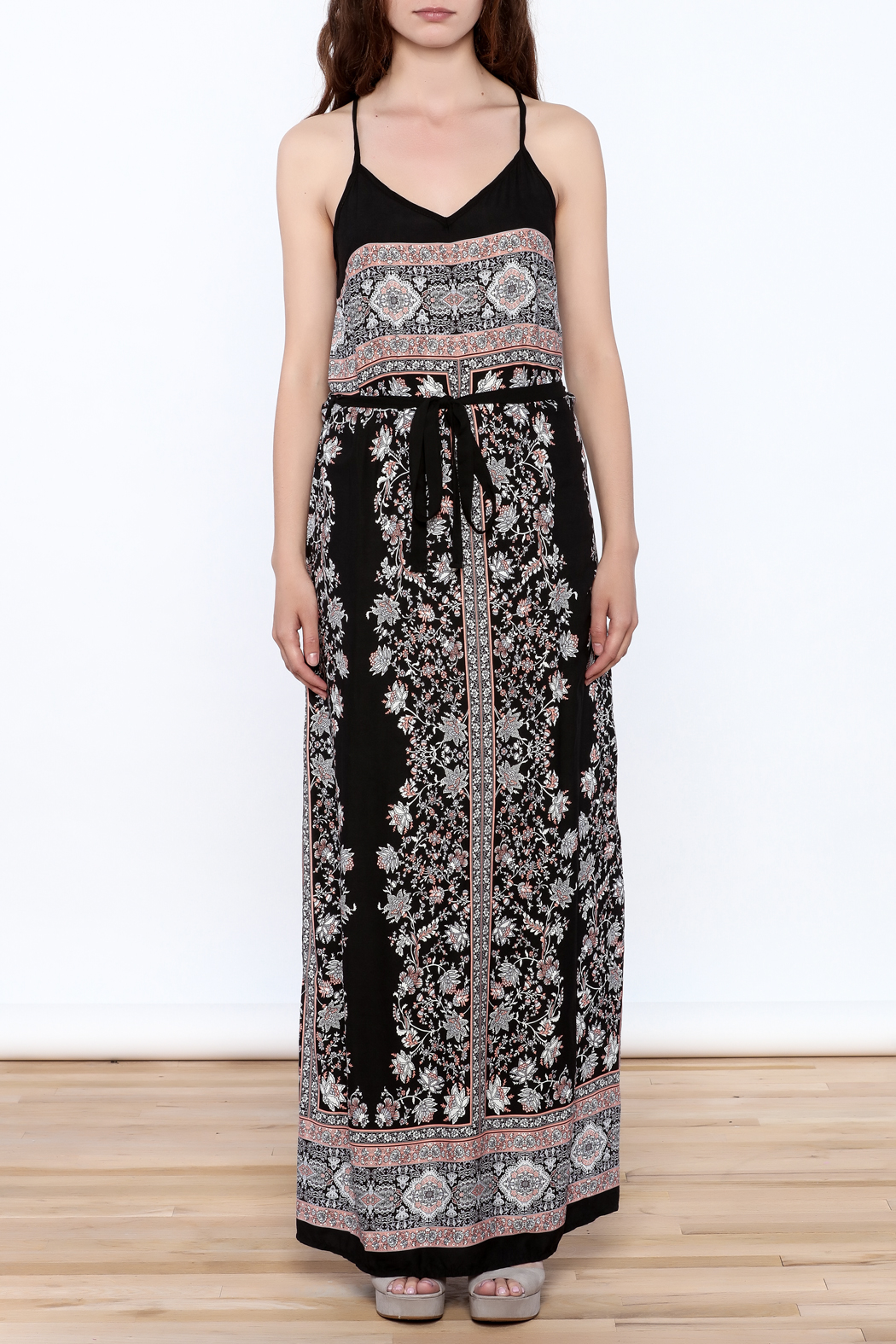 Andree Black Maxi Dress - Front Cropped Image