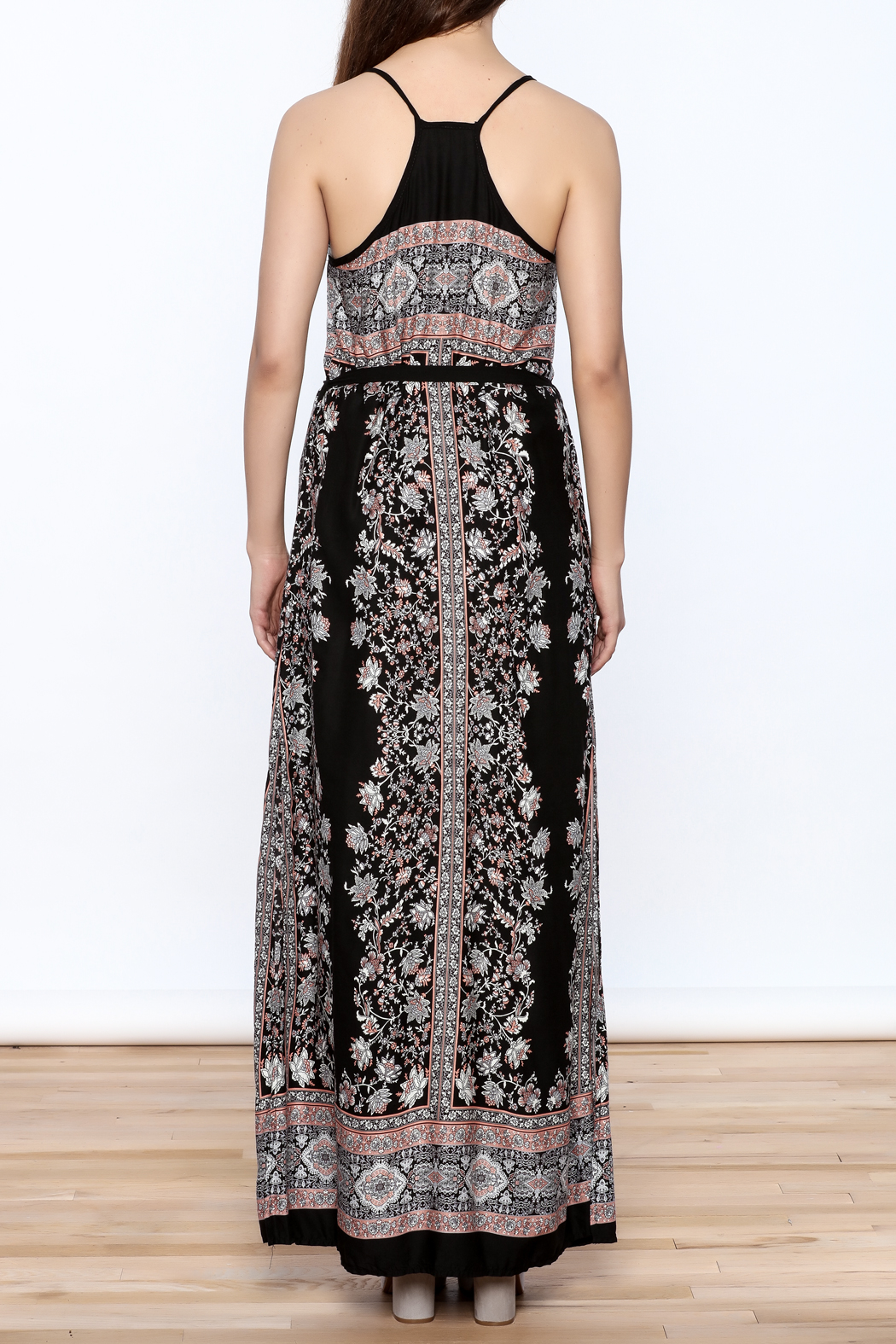 Andree Black Maxi Dress - Back Cropped Image