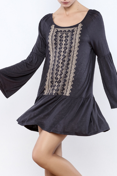 Andree Blue Embroidered Dress - Product List Image