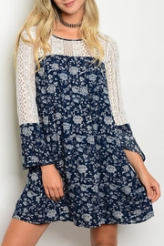 Andree Blue Lace Dress - Product Mini Image