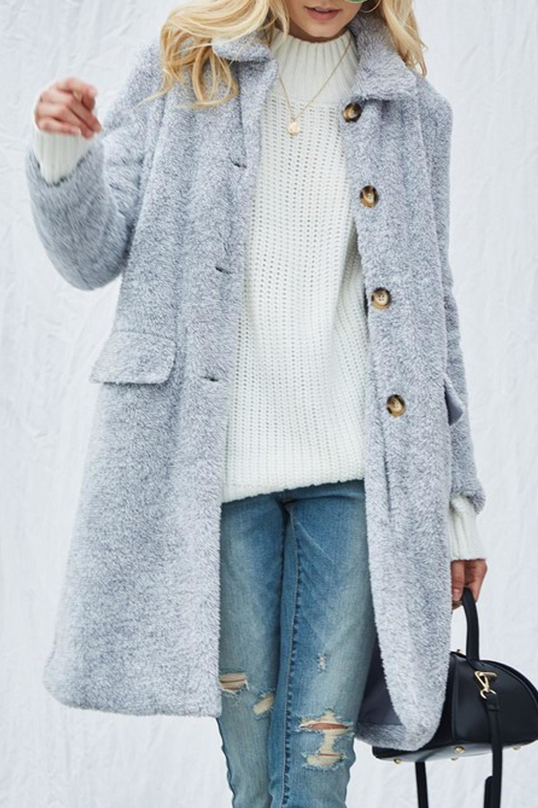 Andree Demi Sherpa Overcoat - Side Cropped Image