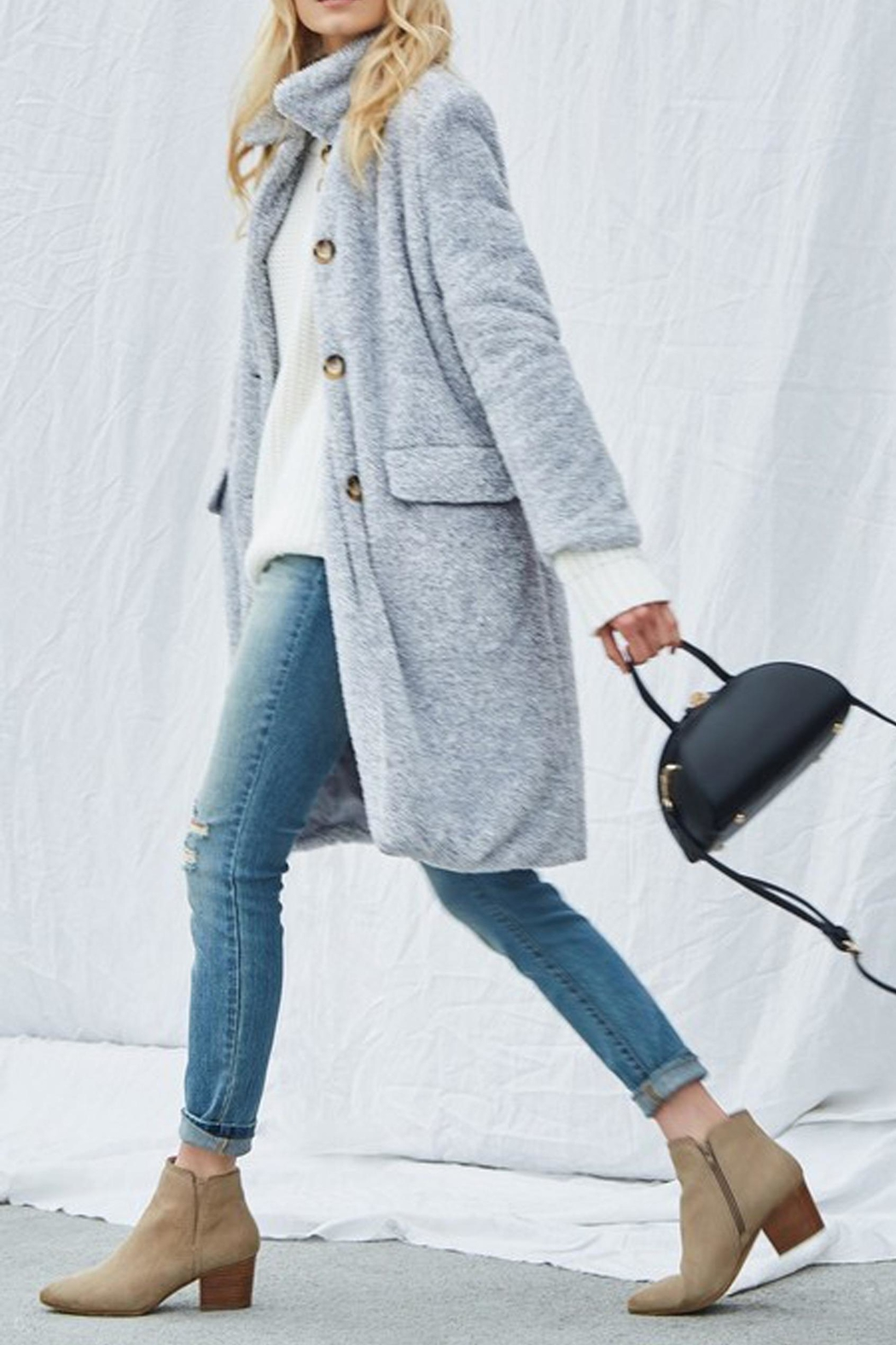 Andree Demi Sherpa Overcoat - Front Full Image