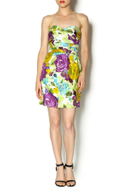 Andree Floral Strapless Dress - Front full body