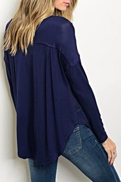 Shoptiques Product: Navy Button Top