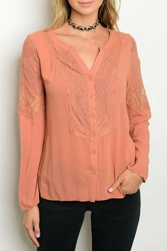 Andree Peach Lace Top - Product List Image