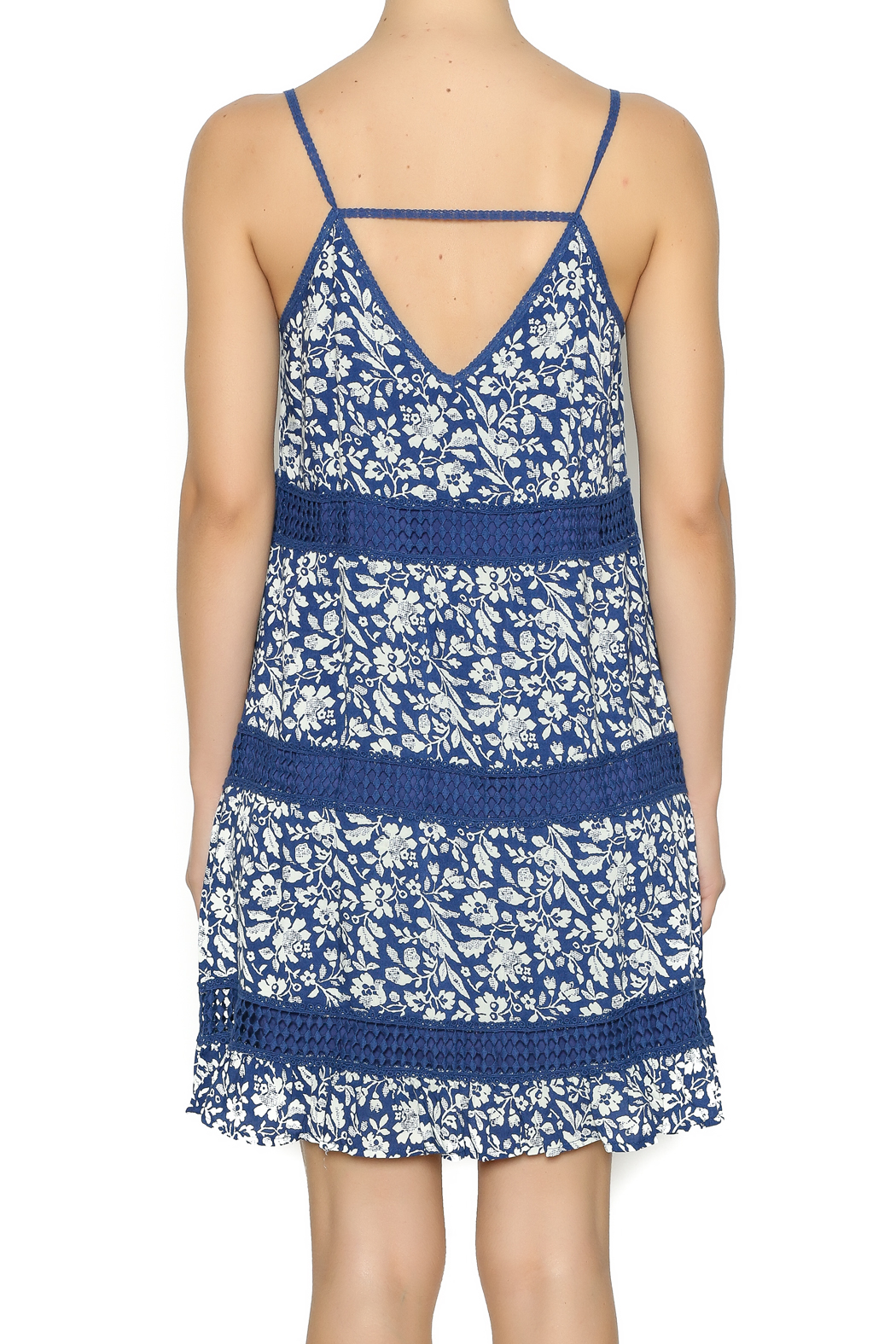 Andree Mini Floral Printed Dress - Back Cropped Image