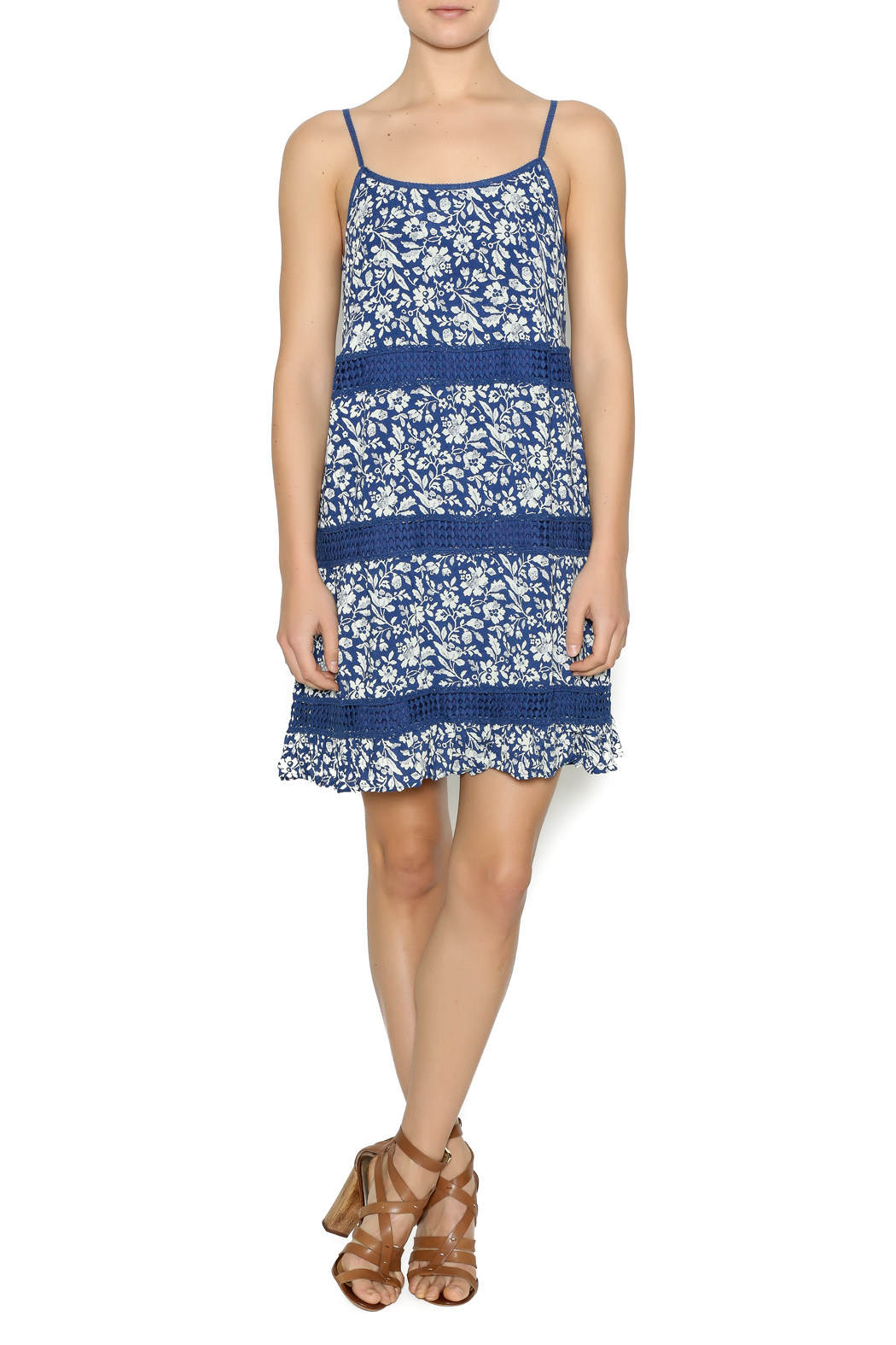 Andree Mini Floral Printed Dress - Front Full Image